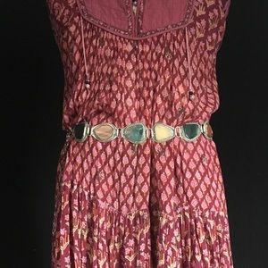 Vintage Ethnic Polished Stone Belt